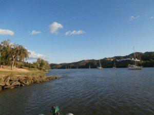 Vistas del río desde Sanlúcar de Guadiana.